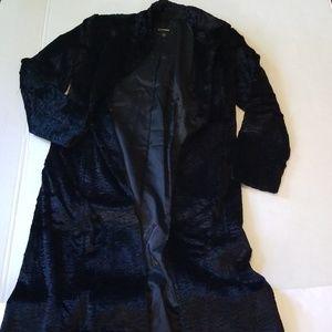 Express Jacket Black Size 7/8 Full Length Velvet